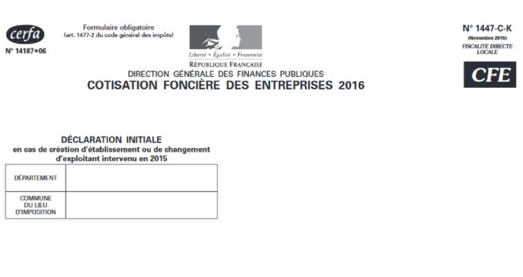 CFE PARIS COTISATION FONCIERE